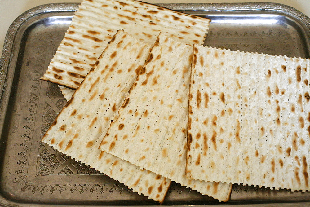Matzoh (unleavened bread) eaten during Passover Jewish festival, Paris, France, Europe