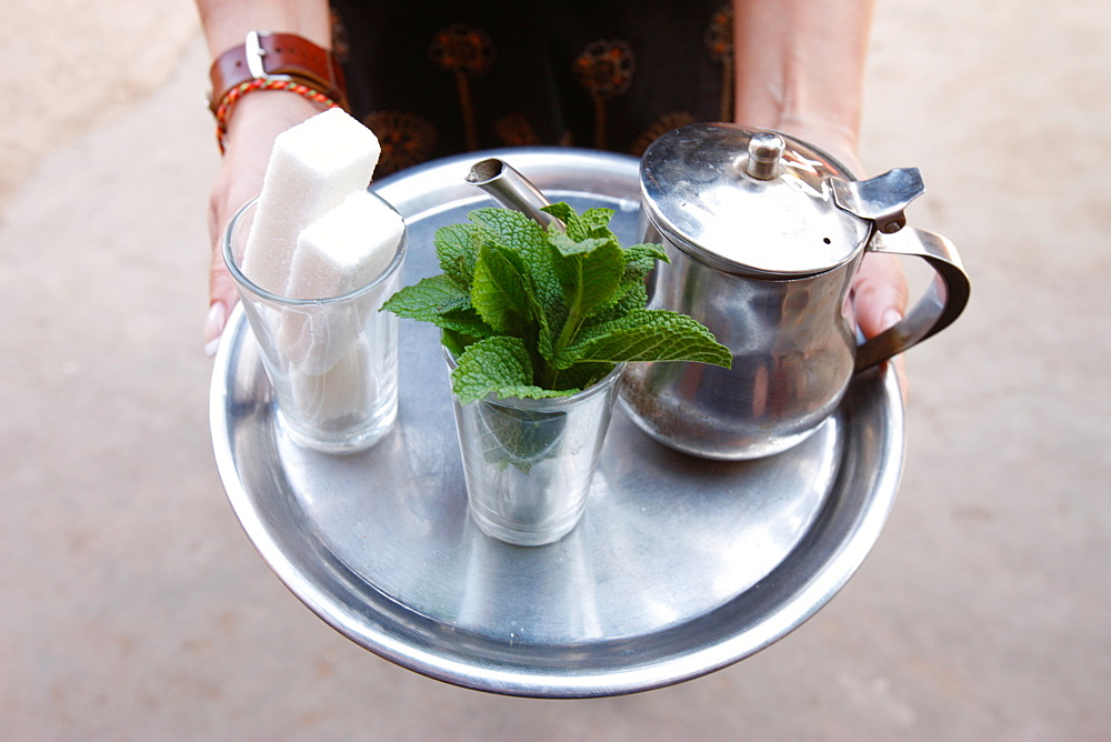 Mint tea, Agadir, Morocco, North Africa, Africa