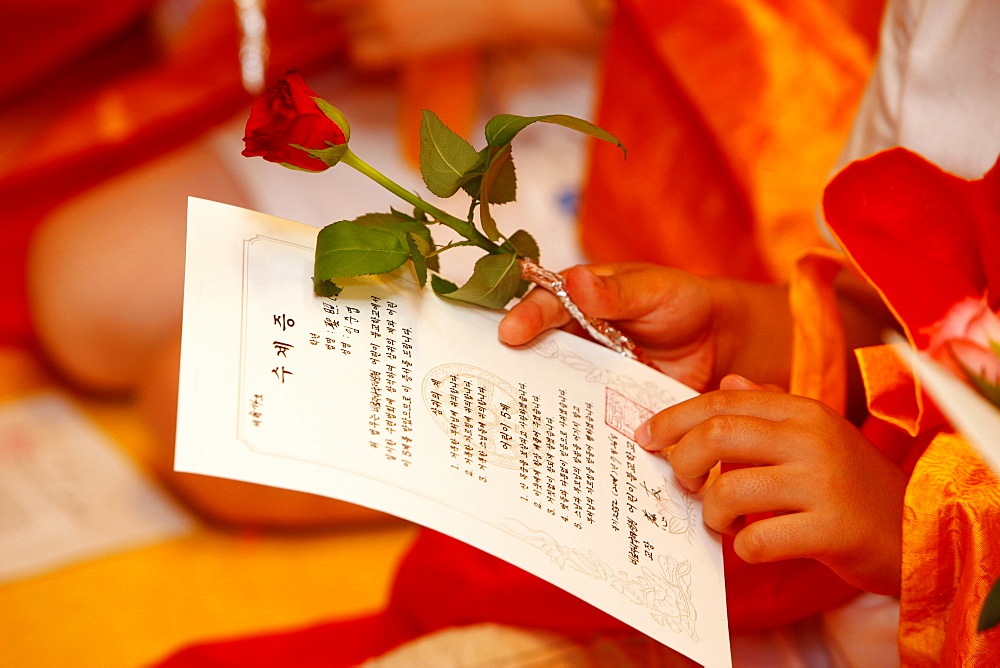 Buddhist ceremony for children and beginners, Seoul, South Korea, Asia