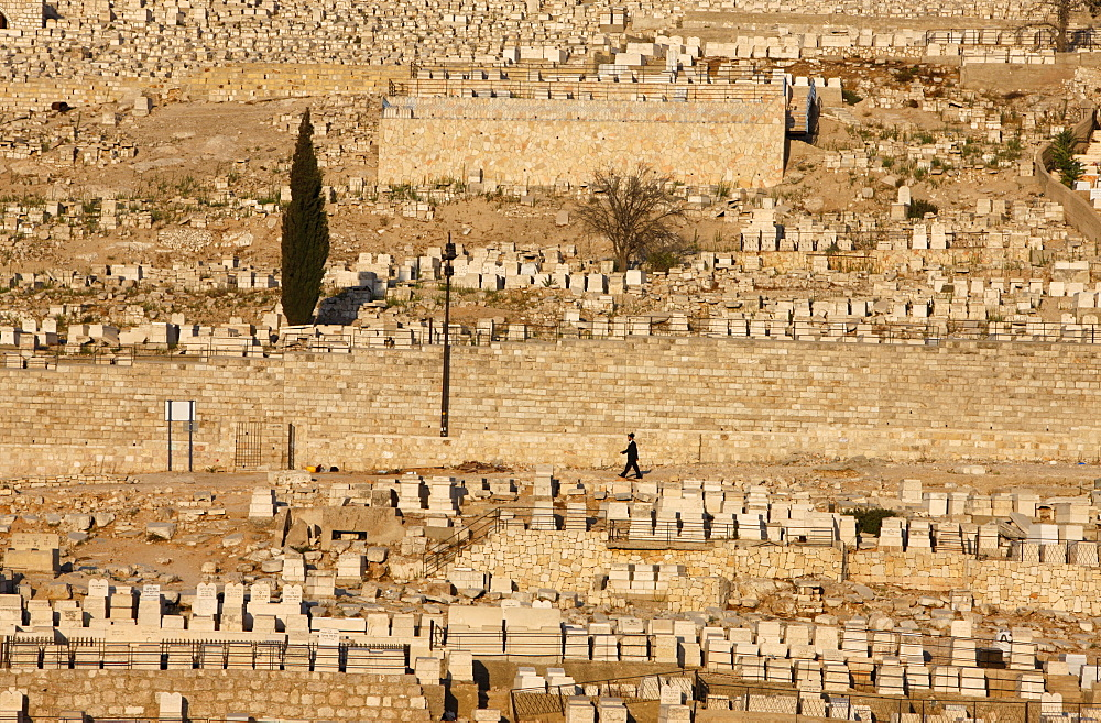 Jewish cemetery, Mount of Olives, Jerusalem, Israel, Middle East
