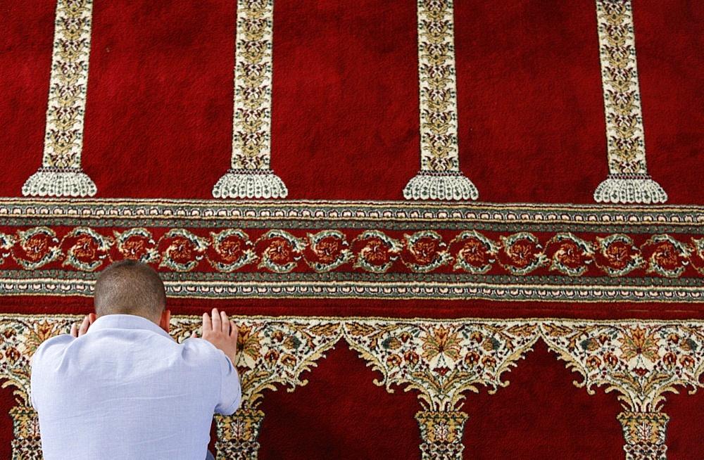 Muslim prayer, Vlora, Albania, Europe - 809-2097