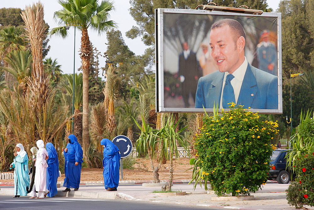 Portrait of King Mohammed VI, Taroudan, Morocco, North Africa, Africa