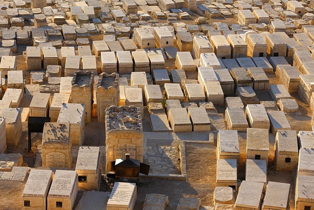 Mount of Olives Jewish cemetery, Jerusalem, Israel, Middle East