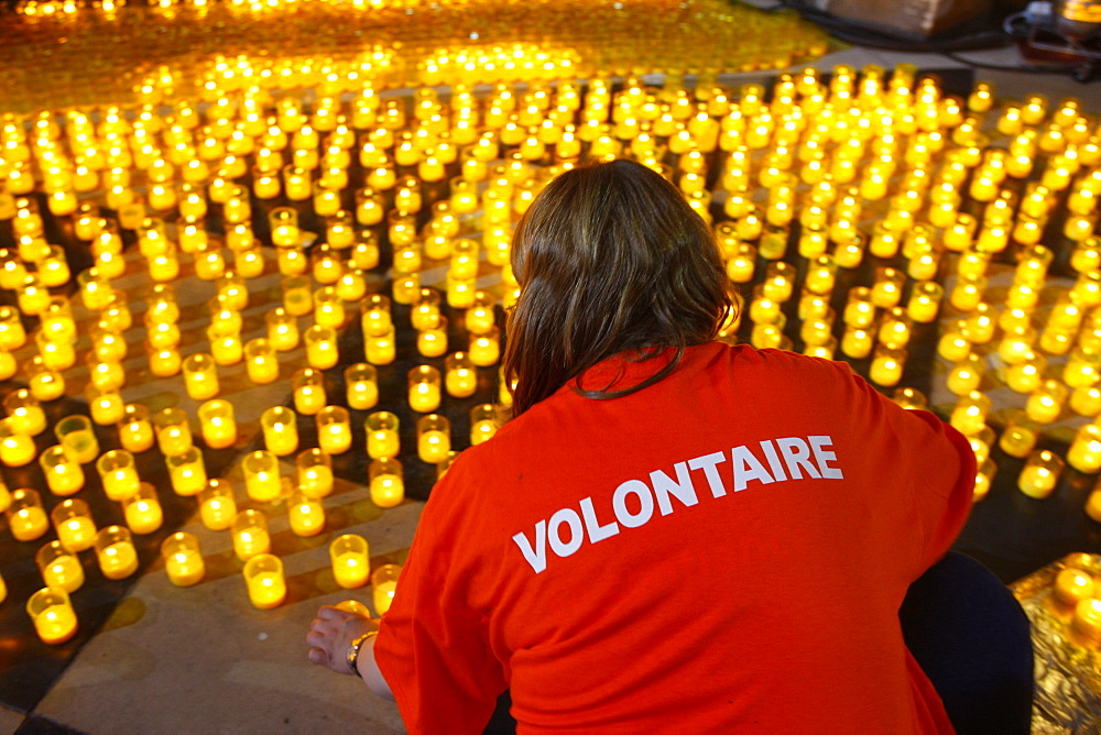 Vigil at Notre Dame cathedral, Paris, France, Europe