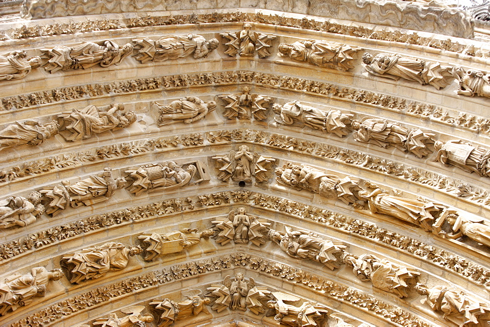 Arches, Mary's Gate, Reims Cathedral, UNESCO World Heritage Site, Reims, Marne, France, Europe