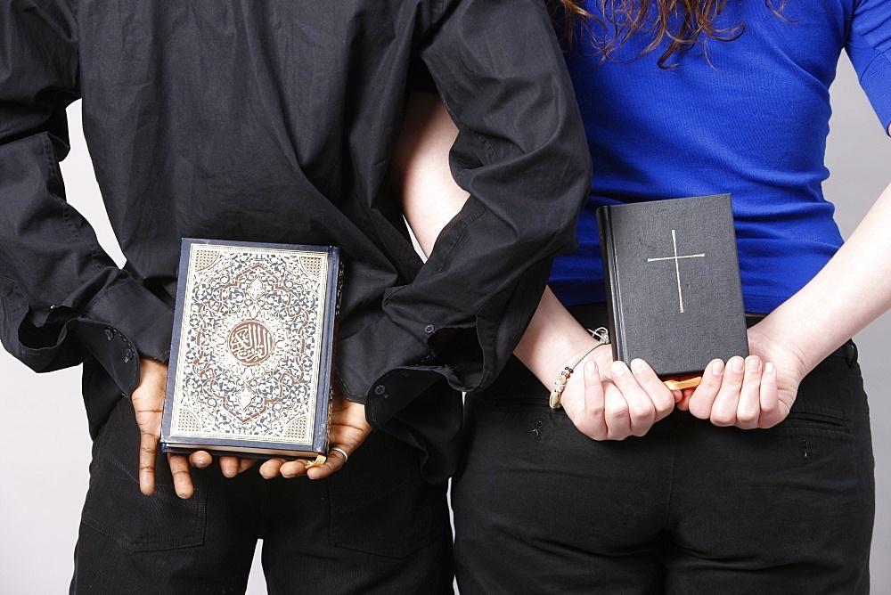 Bible and Koran, Paris, France, Europe