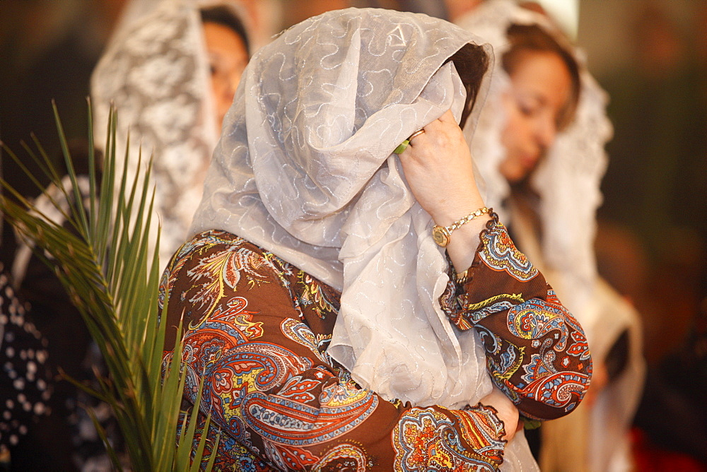 Orthodox Coptic Palm Sunday, Chatenay-Malabry, Hauts de Seine, France, Europe