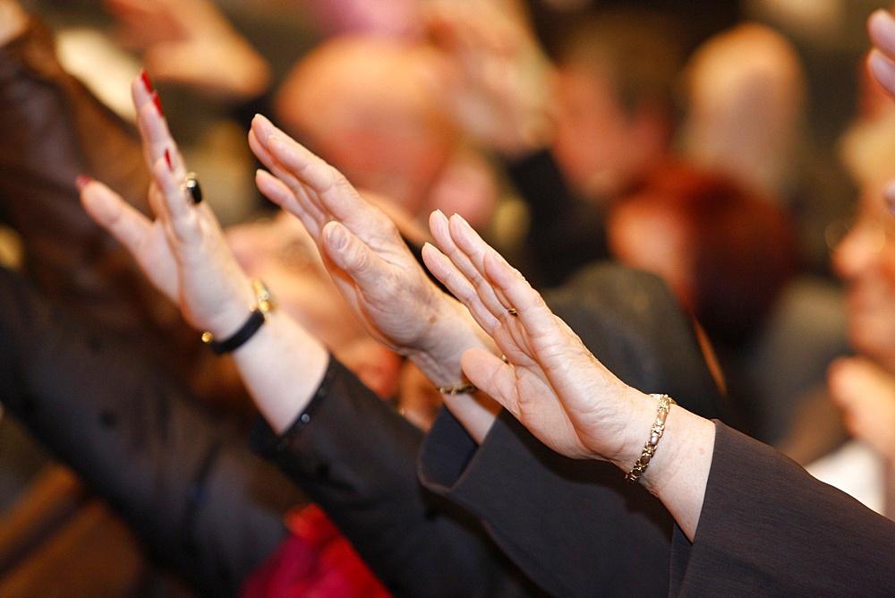 Shekinah Glory Evangelical group meeting, Paris, France, Europe - 809-2567