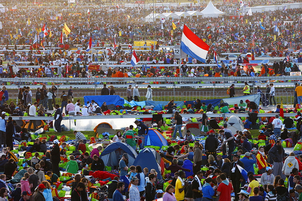 Young people gather for Mass during World Youth Day in the Randwick area of Sydney, New South Wales, Australia, Pacific