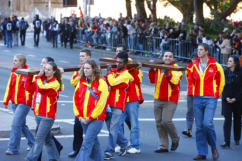 Pilgrimage walk with the World Youth Day Cross, Sydney, New South Wales, Australia, Pacific