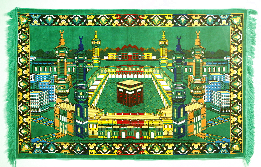 Ka'aba at Mecca on a prayer carpet, Tirana, Albania, Europe
