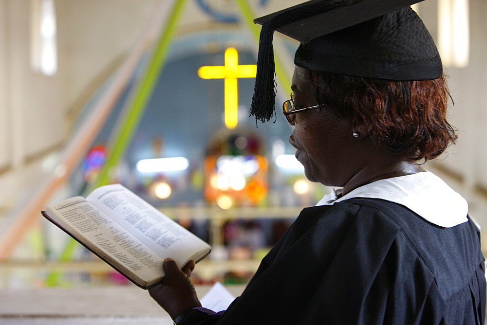 Presbyterian Evangelical church in Lome, Togo, West Africa, Africa - 809-2888