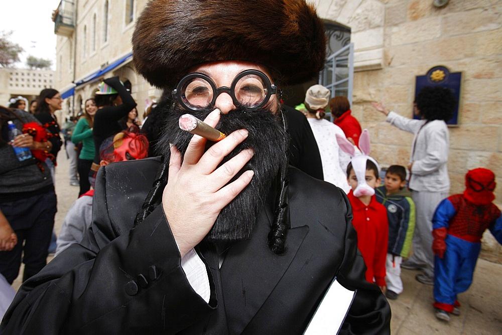Purim festival in Jerusalem, Israel, Middle East