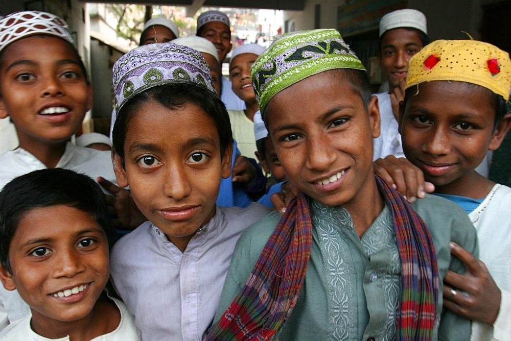 Koranic school students, Dhaka, Bangladesh, Asia