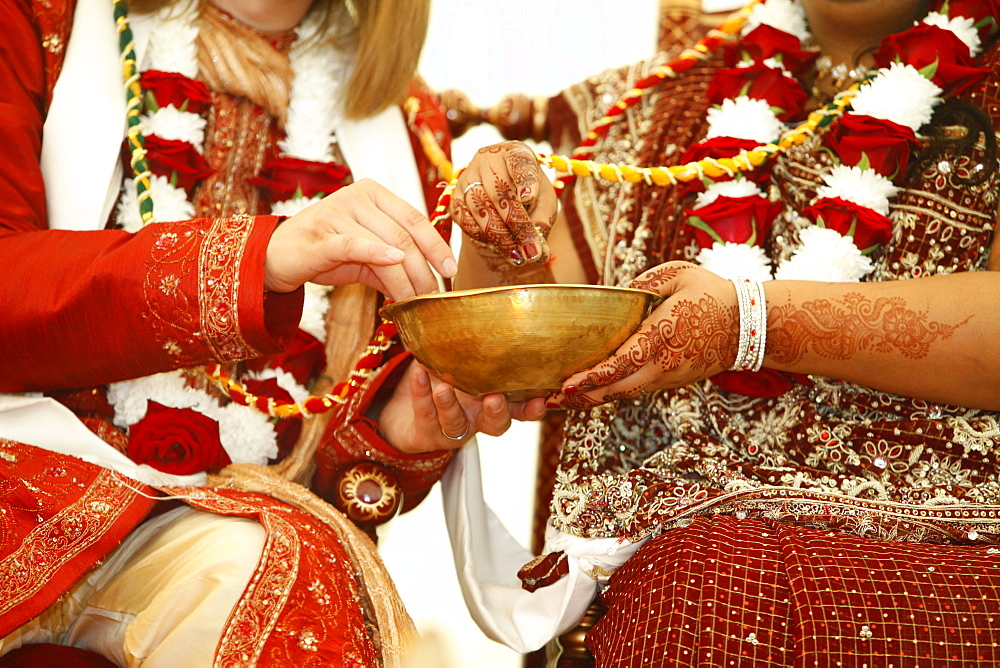Hindu wedding at Bhaktivedanta Manor, Watford, Hertfordshire, England, United Kingdom, Europe