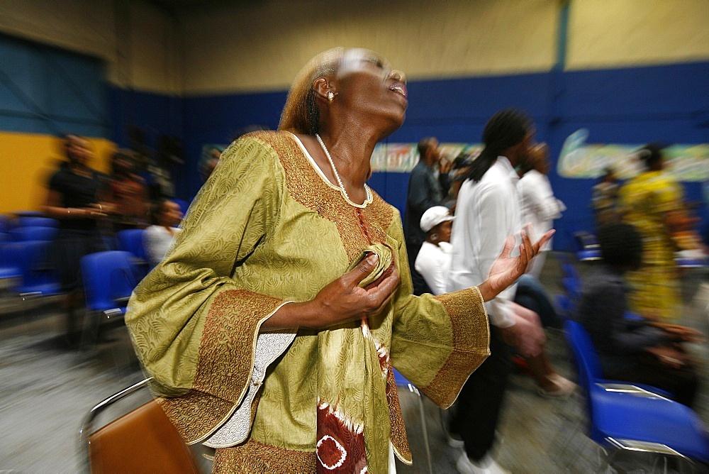 African Evangelical celebration, Neuilly sur Marne, Seine Saint Denis, France, Europe - 809-343
