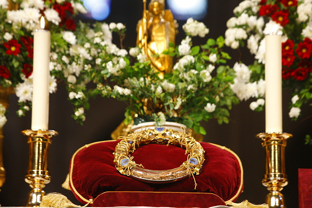 Crown of Thorns, Christ's Passion relics at Notre Dame cathedral, Paris, France, Europe