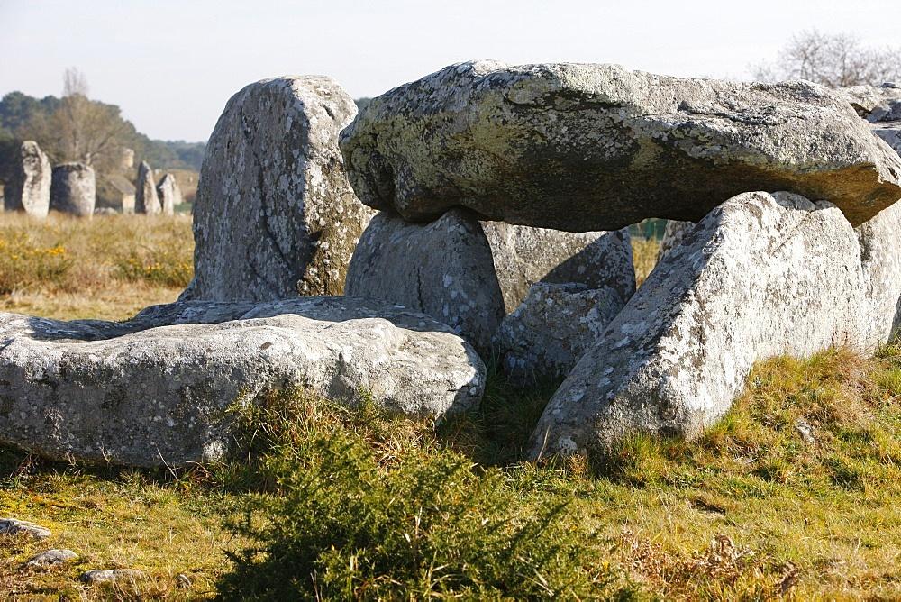 Kermario menhirs in Carnac, Morbihan, Brittany, France, Europe