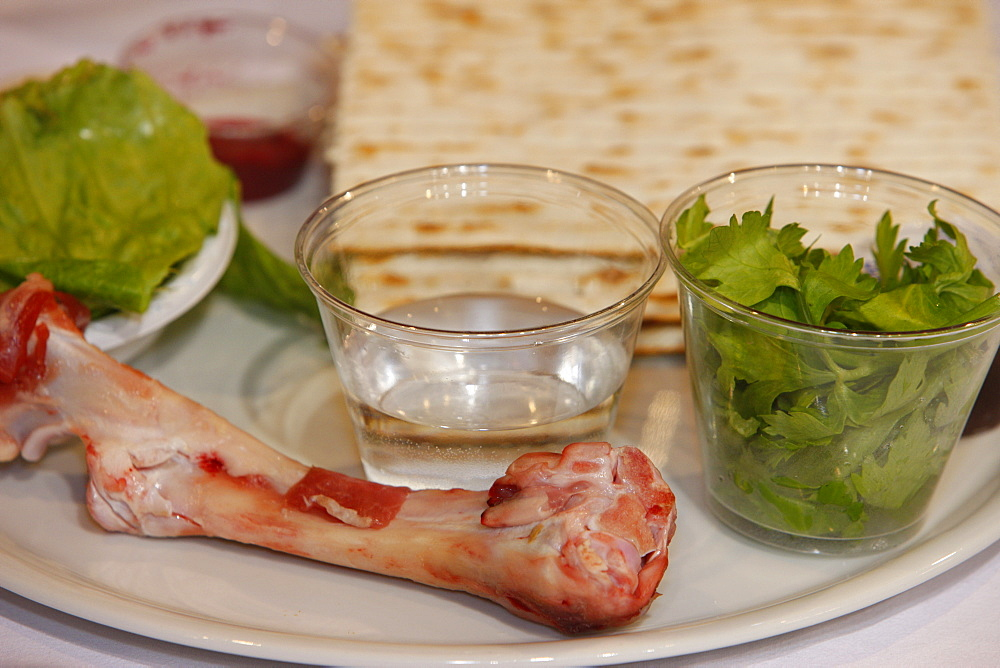 Passover celebration dishes, Paris, France, Europe