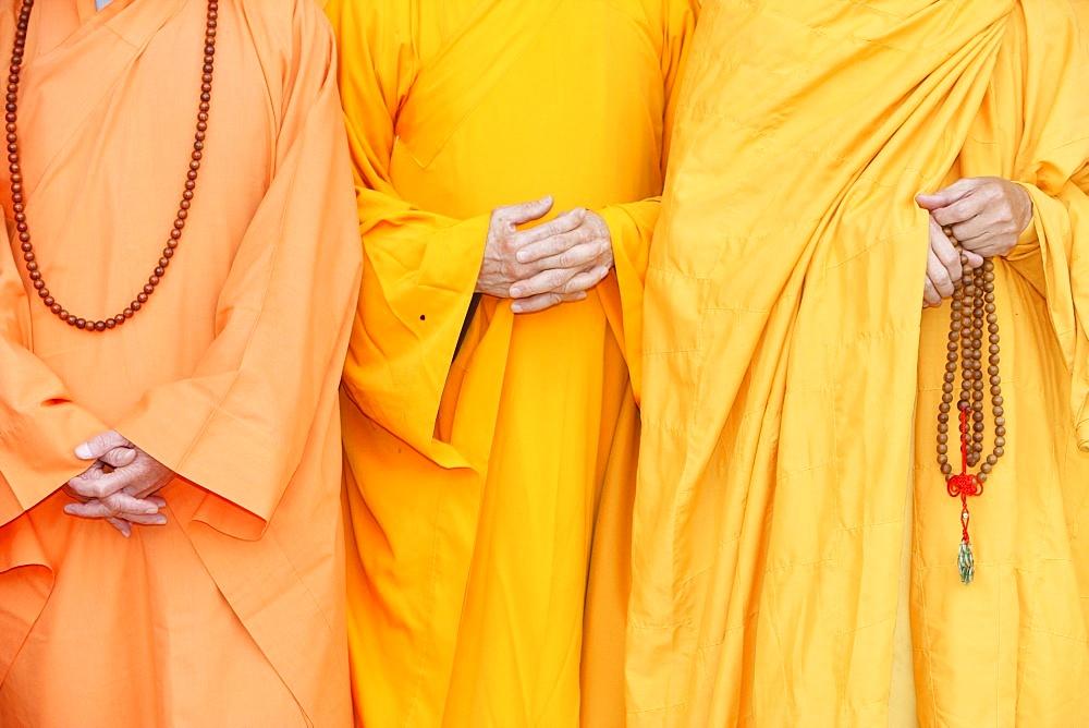 Buddhist monks, Thiais, Val de Marne, France, Europe