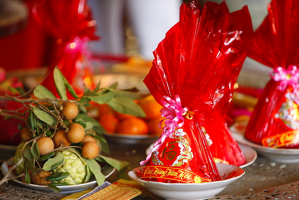 Photo of Food offerings for Chinese New Year