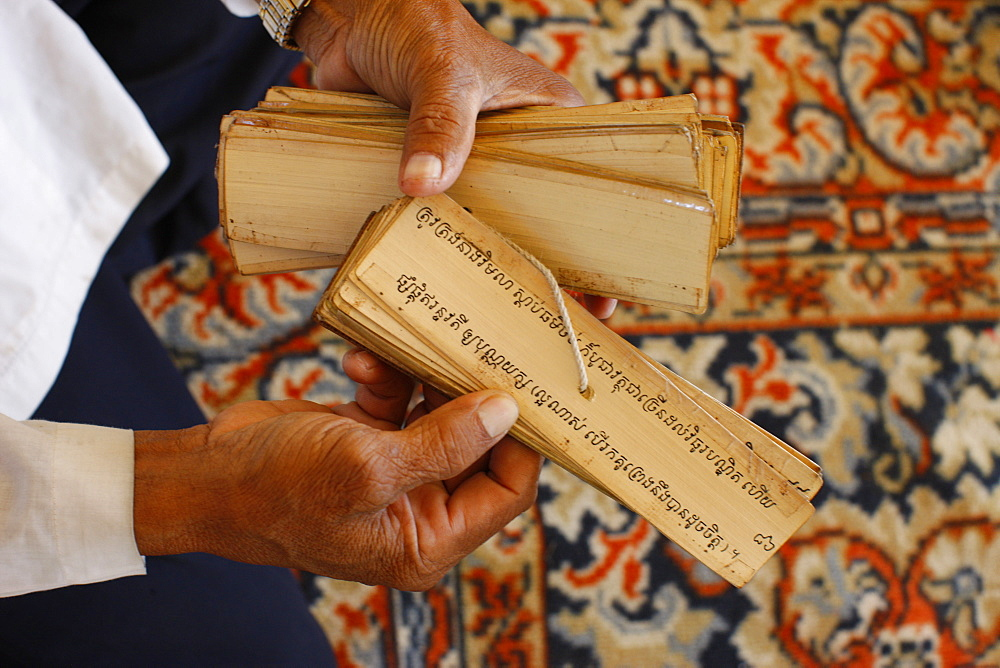 Fortune teller, Sylver Pagoda, Phnom Penh, Cambodia, Indochina, Southeast Asia, Asia