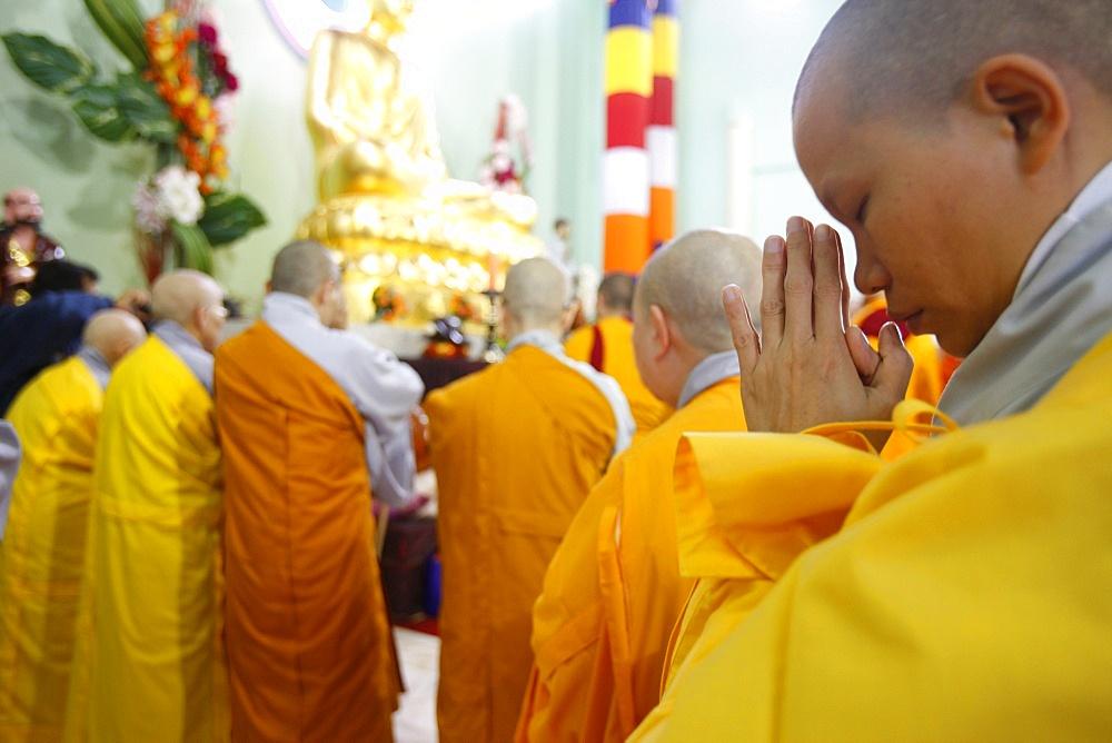 Wesak day celebration in Khanh Anh temple, Evry, Essonne, Ile-de-France, France, Europe