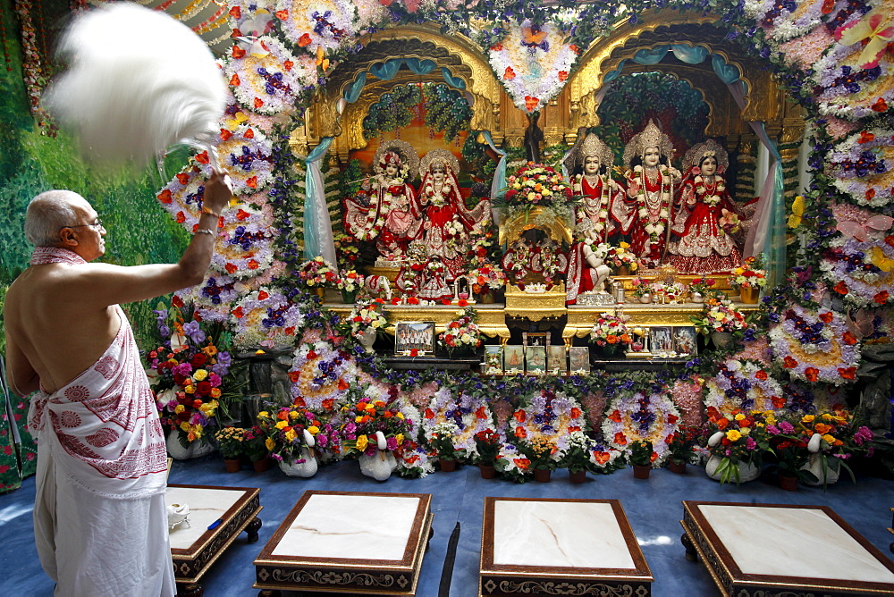 Aarthy celebration in Bhaktivedanta Manor ISKCON (Hare Krishna) temple, Watford, Hertfordshire, England, United Kingdom, Europe
