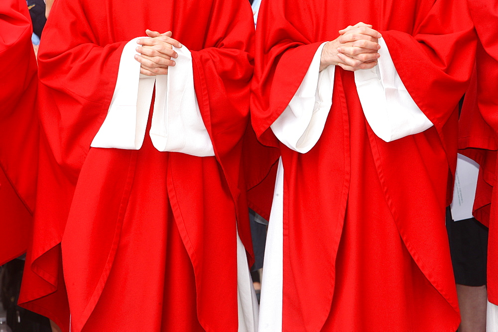 Image of Red catholic priests robes