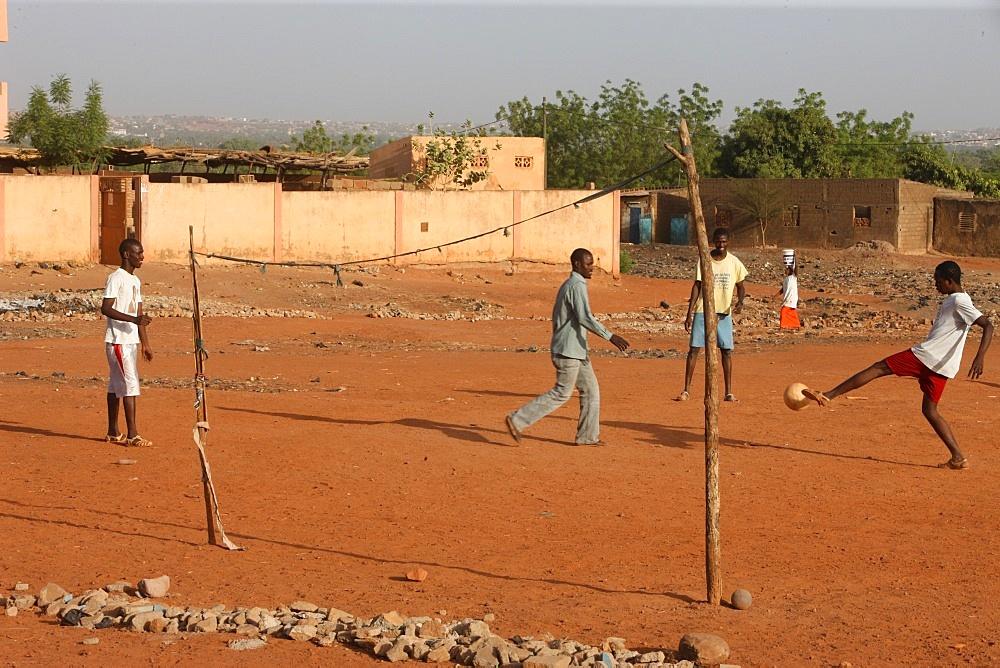 Soccer game, Bamako, Mali, West Africa, Africa