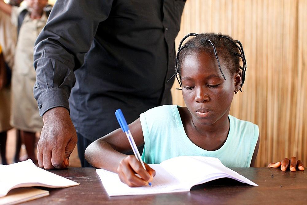Secondary school in Africa, Hevie, Benin, West Africa, Africa