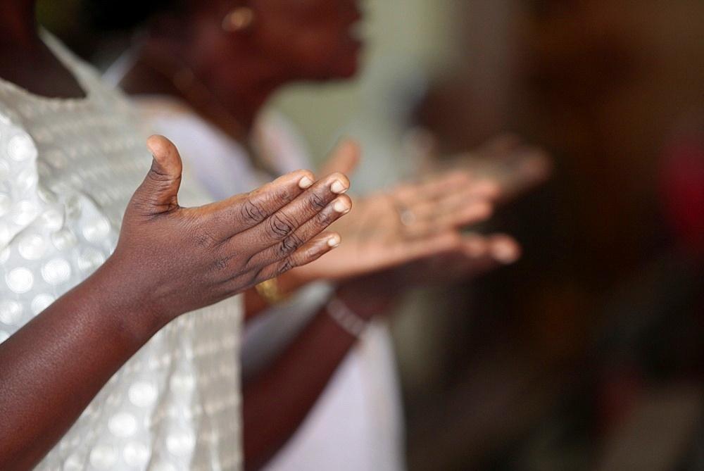 Mass in Cathedral Notre-Dame de la Misericorde, Cotonou, Benin, West Africa, Africa