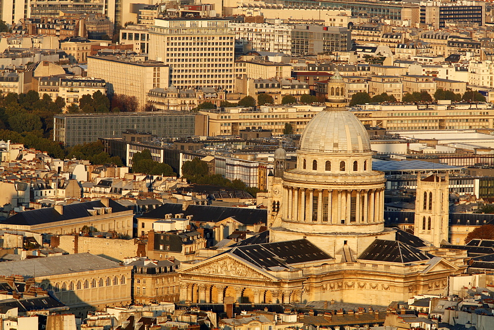 Aerial view of Paris around the Pantheon, Paris, France, Europe