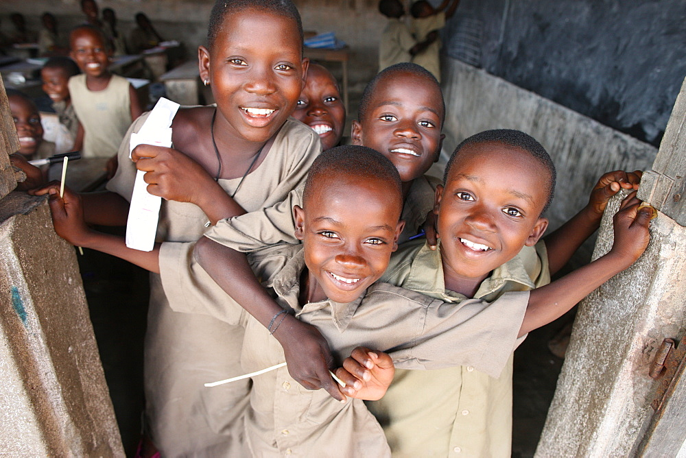 African schoolchildren, Lome, Togo, West Africa, Africa