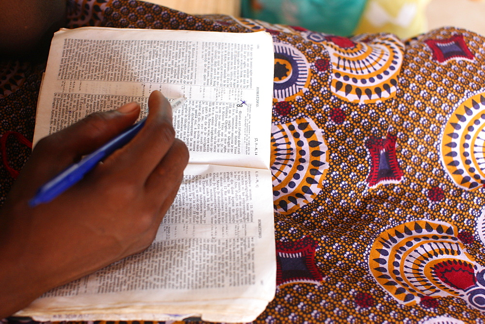 Bible reading, Evangelical church, Lome, Togo, West Africa, Africa