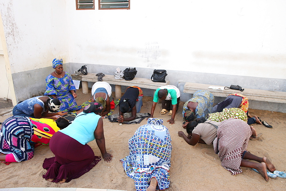 Prayer group, Lome, Togo, West Africa, Africa