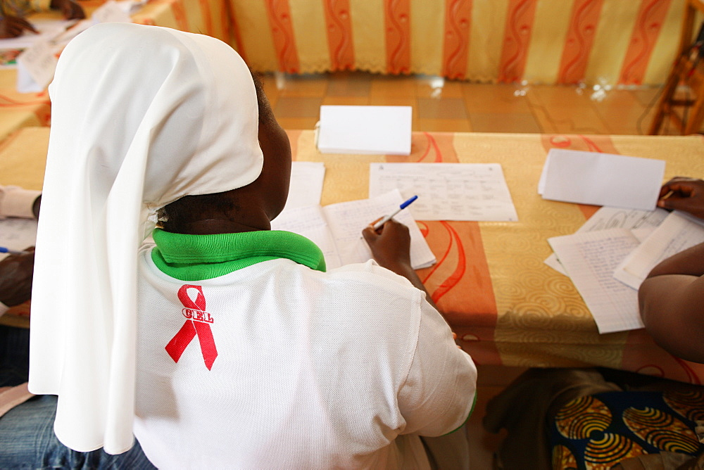 AIDS prevention workshop, Lome, Togo, West Africa, Africa