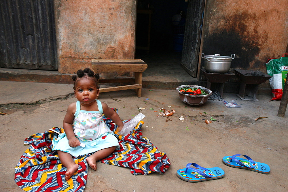 African child, Lome, Togo, West Africa, Africa