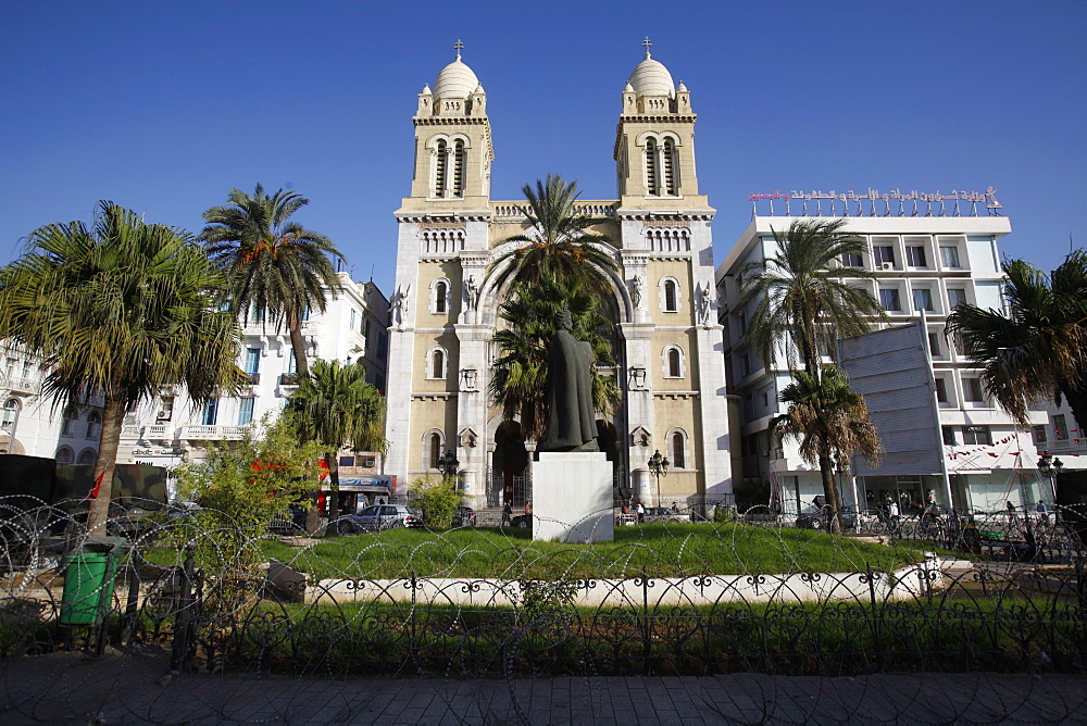 St. Louis's cathedral, Tunis, Tunisia, North Africa, Africa