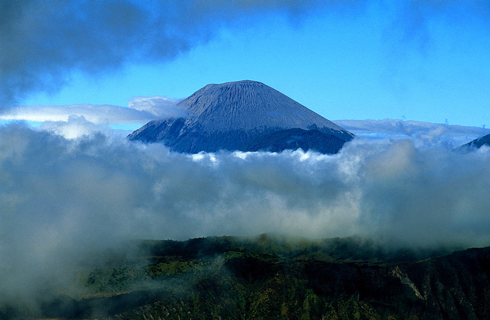Caldeira and Bromo at 2329 m, and Semeru at 3676m, volcanoes on Java, Indonesia, Southeast Asia, Asia