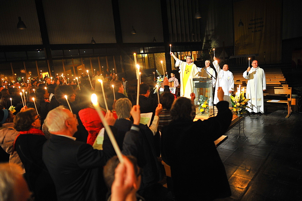 Easter vigil, Paris, France, Europe