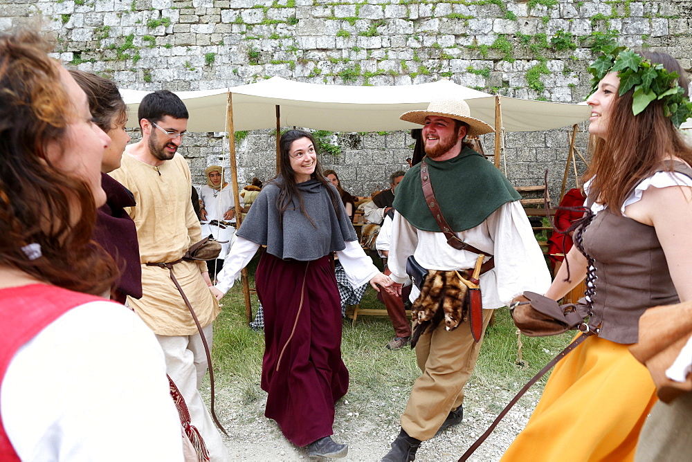 The medieval festival of Provins, UNESCO World Heritage Site, Seine-et-Marne, Ile-de-France, France, Europe