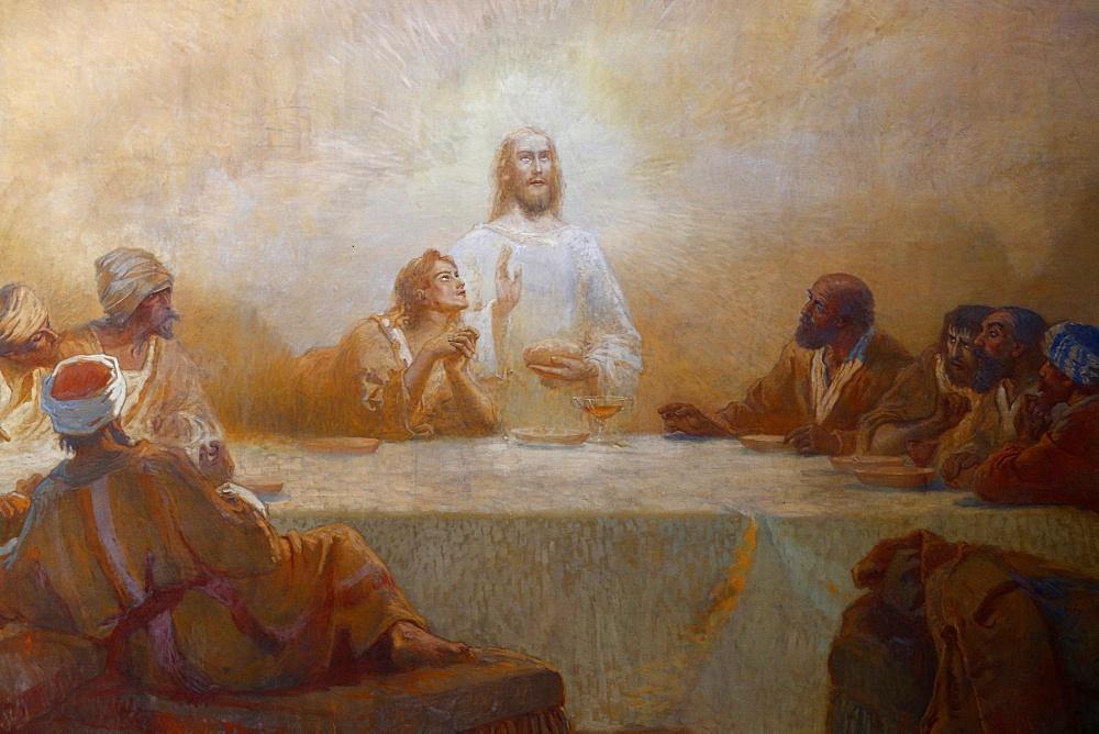 The Last Supper by Alfred Plauzeau, Saint-Jean de Montmartre church, Paris, France, Europe