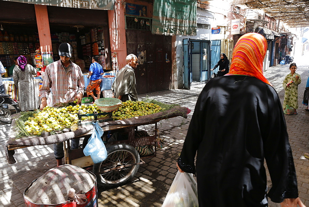 A souk in the Medina of Marrakech, Morocco, North Africa, Africa