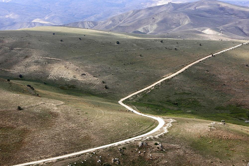 View from Besh Barmaq mountain, Siyazan, Azerbaijan, Central Asia, Asia