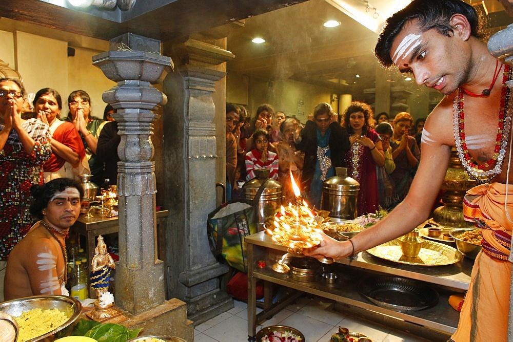 Celebration in the Paris Ganesh temple, Paris, France, Europe
