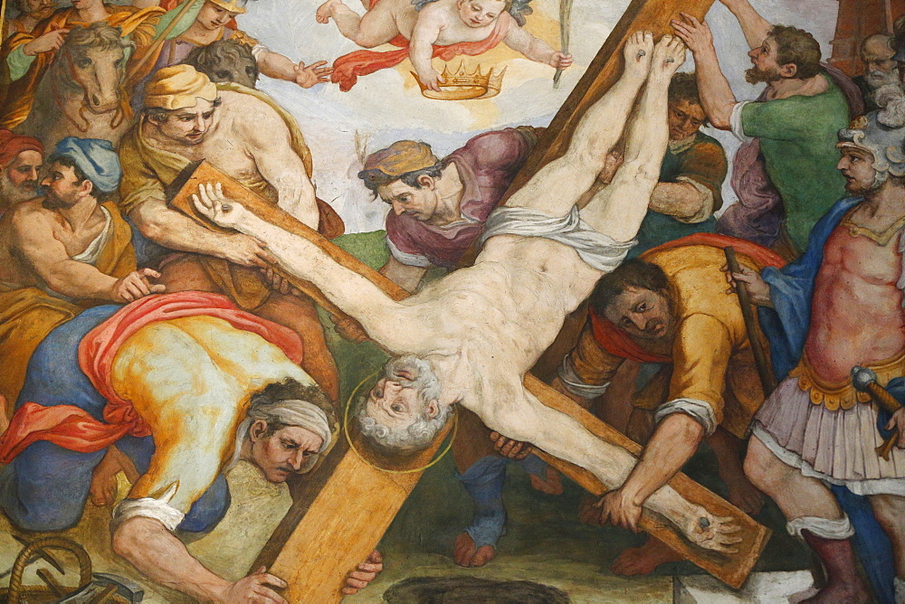 The Crucifixion of St. Peter, Santa Maria in Traspontina church, Rome, Lazio, Italy, Europe