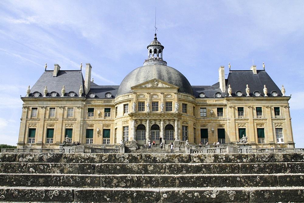 South facade, Vaux-le-Vicomte chateau, Seine et Marne, France, Europe