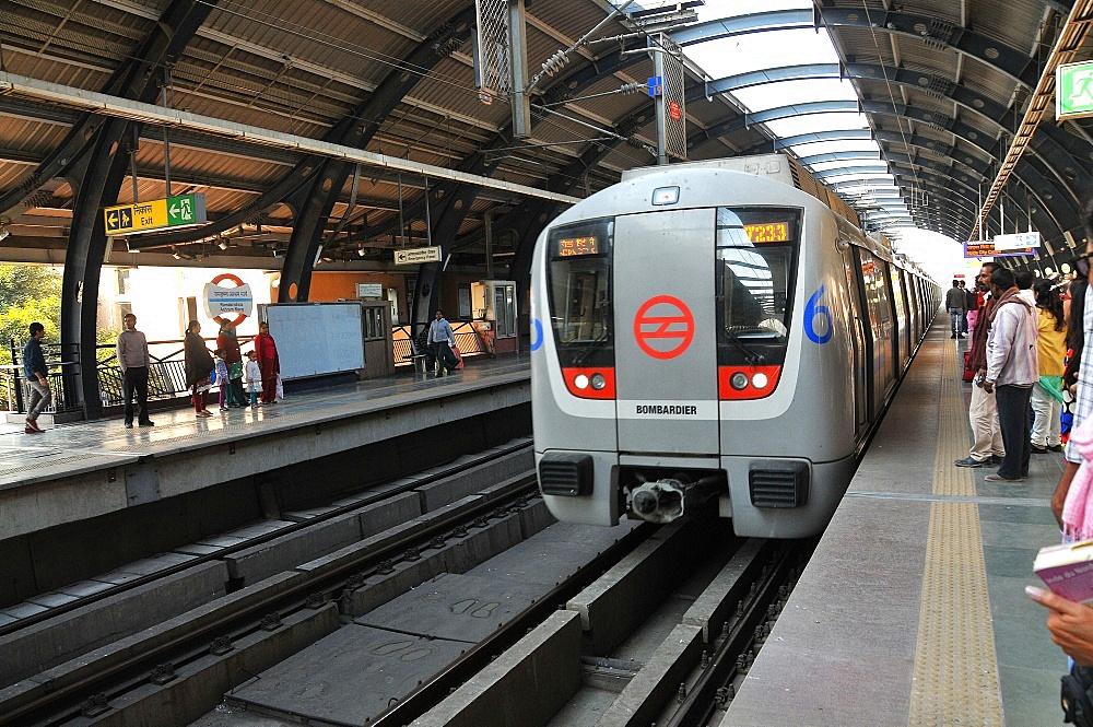 Dehli metro, Delhi, India, Asia