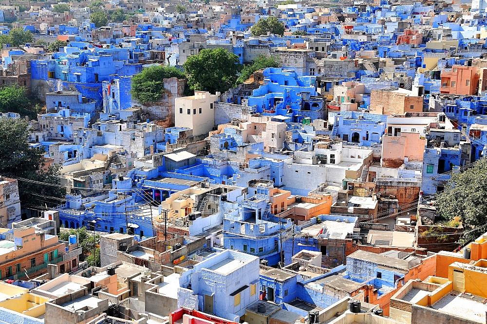 Blue City, Jodhpur, Rajasthan, India, Asia